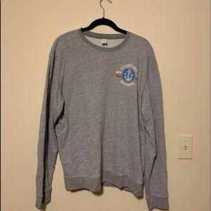 Chubbies Grey Sweatshirt America Sail Boat Sz XL